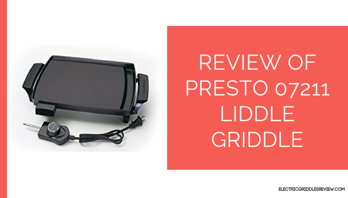 Presto 07211 Liddle Griddle Feature